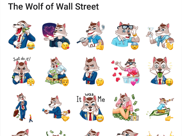The wolf of wall street sticker pack telegram stickers hub collection