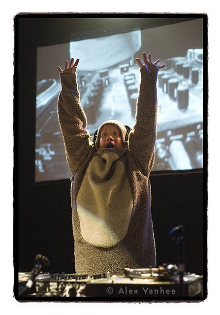 Kid Koala - opened for Arcade Fire - couldn't have been more fun!!! It was really amazing! (Beat juggling DJ)