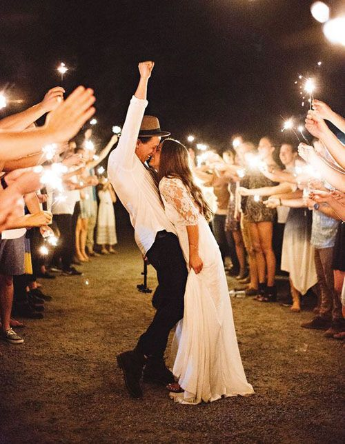 15 Epic Wedding Sparkler Sendoffs That Will Light Up Any