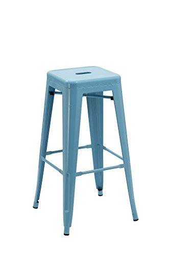 Barhocker Blau duhome 0585 eisen barhocker blau metall barstuhl indust https