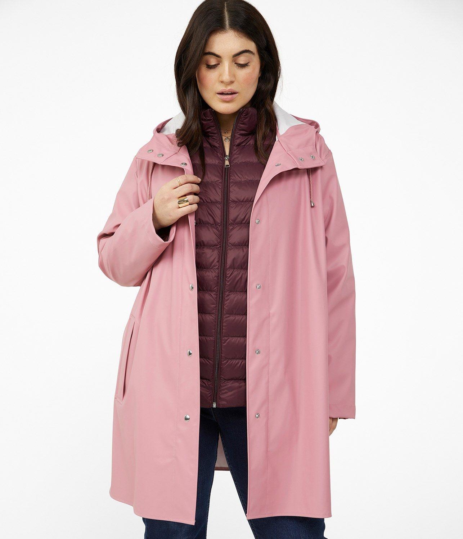 Regnjacka I Rosa Xlnt Dam Kappahl Raincoat Jackets Coat
