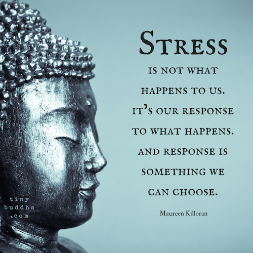 Citaten Over Stress : Stress is not what happens to us. its our response to what happens