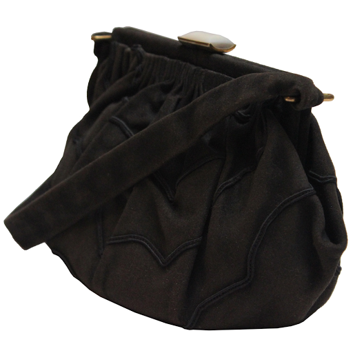 Modes and More | Vintage Suede and Embroidered Bag
