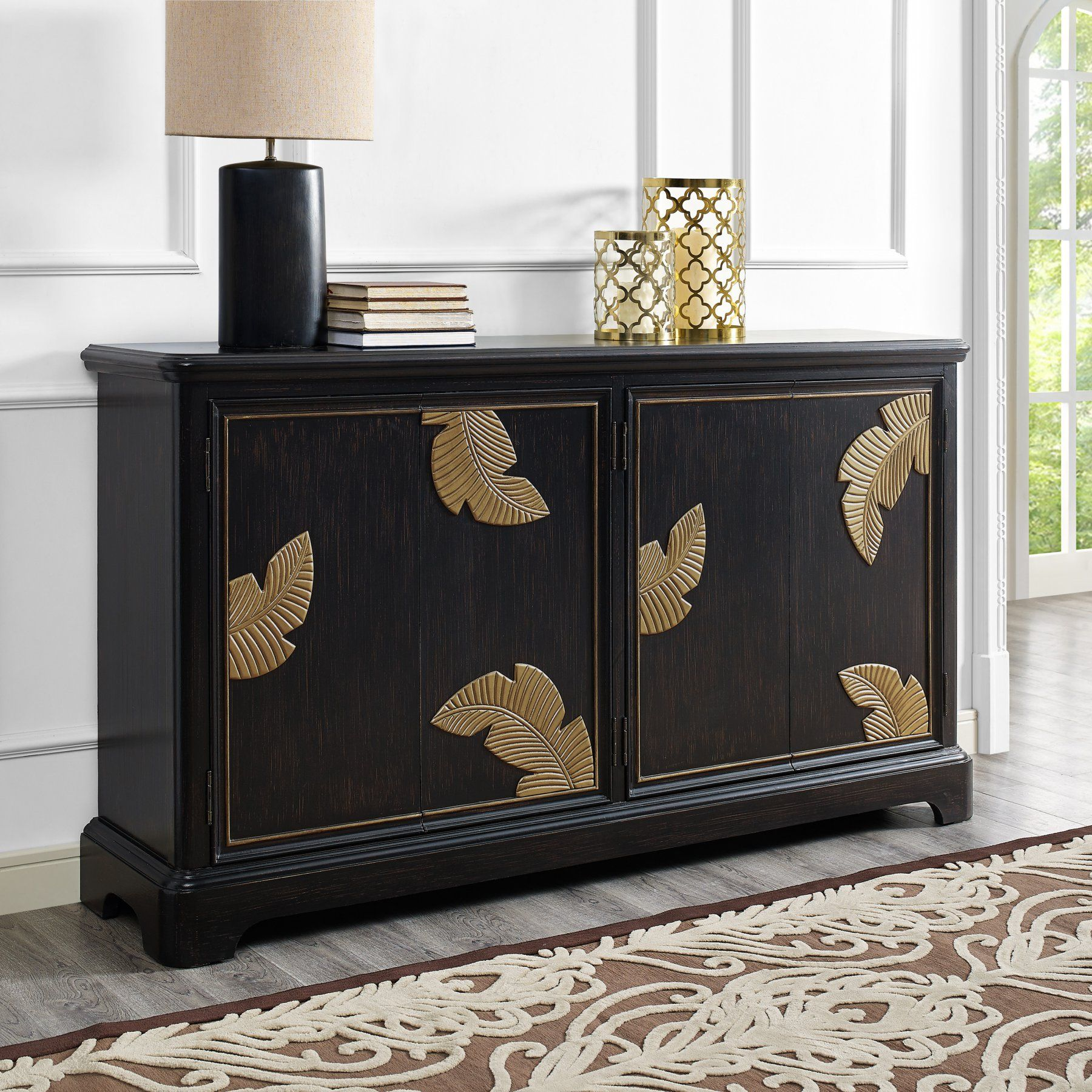 Right2Home Modern Textured and Distressed 4 Door Credenza ... on consoles and credenzas, made in usa modern credenzas, modern sideboards with sliding door, country style credenzas, industrial modern credenzas, post modern credenzas, modern sideboards and hutches,