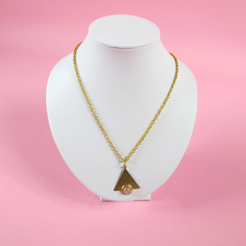 Minimalist Gold Triangle Armor Necklace. $24.00, via Etsy.