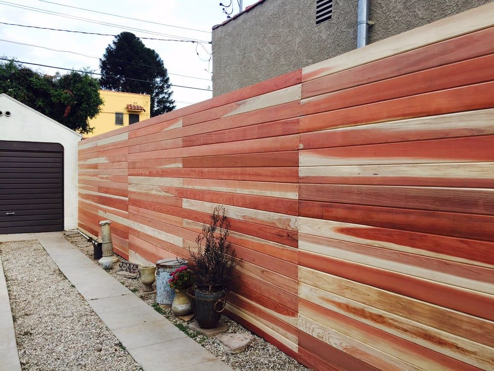 Good Old Boys Handyman Los Angeles Ca United States Fence After Clearheart Redwood Tongue And Groove Pre Stain Backyard Wood Fence Gates Wood Fence