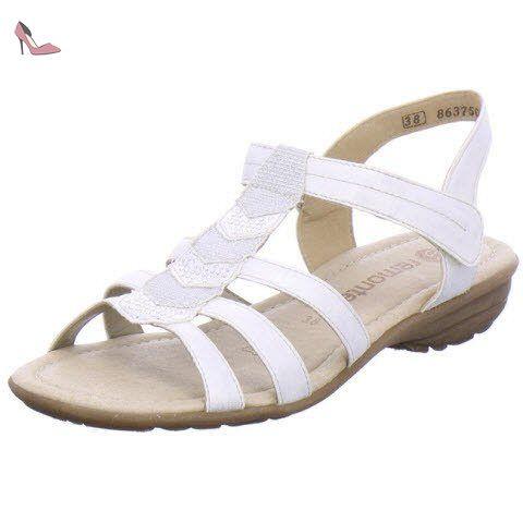ArgentéEu R3637 Femmes 45 Chaussures Remonte Sandale E9IDH2W