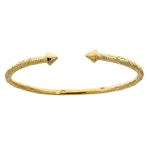 14K Yellow Gold West Indian Bangle w….