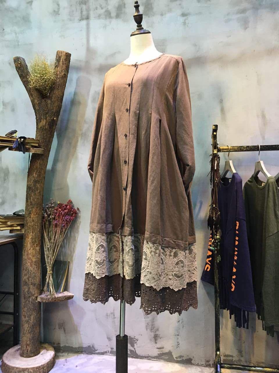 Spring Fashion Plus Size Crochet Lace Dress Beautiful Dress    #crochet #lace #brown #oversize #plussize #over50 #elder #senior #dress #boutique #linen
