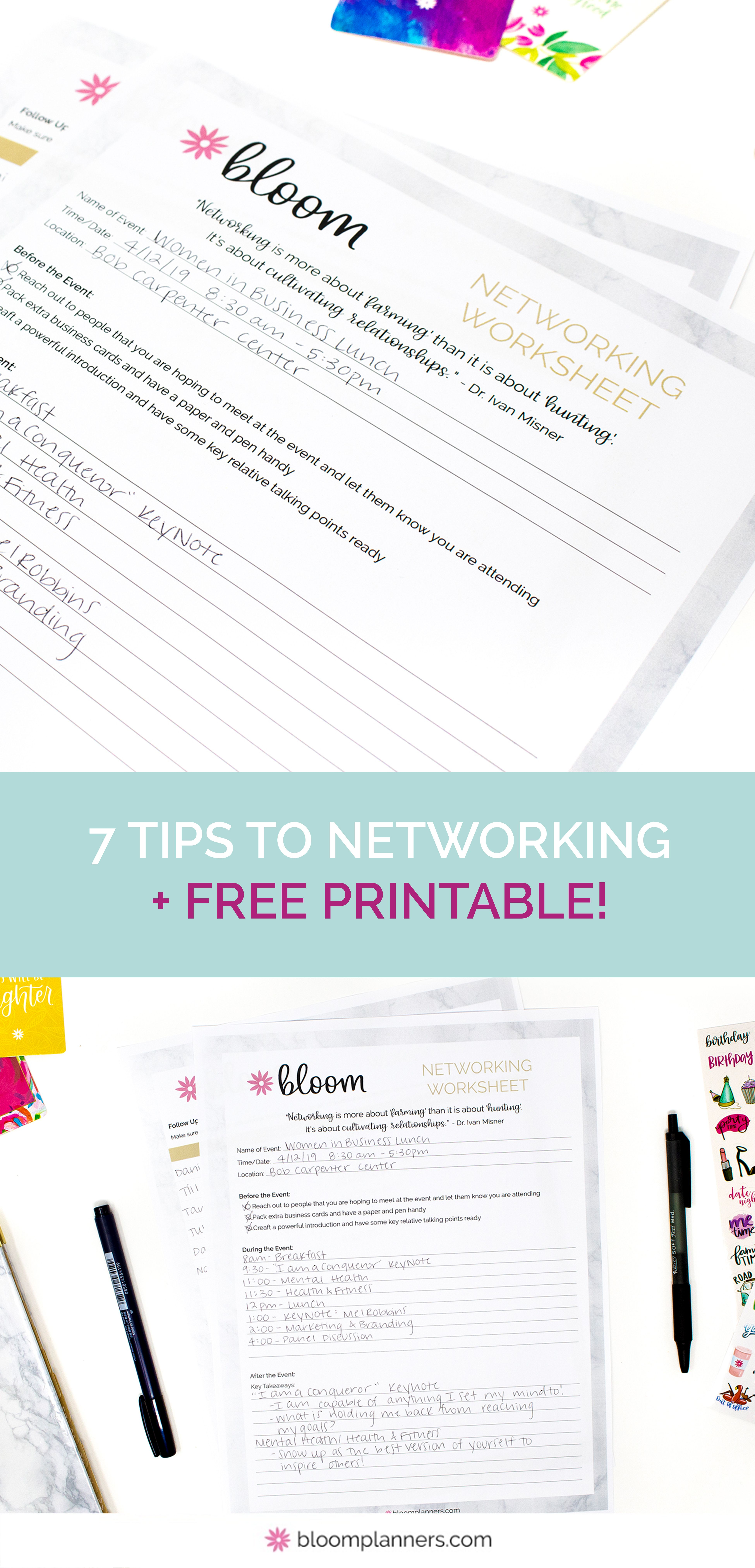 7 Tips To Networking Like A Pro Free Worksheet