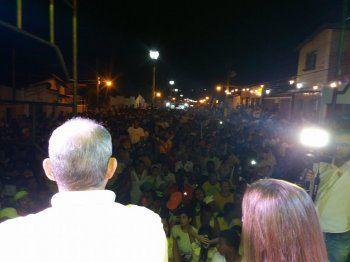 Marcelo Lima falou para mais de 6 mil pessoas no comicio