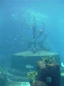 Underwater features at Atlantis.   Underwater city