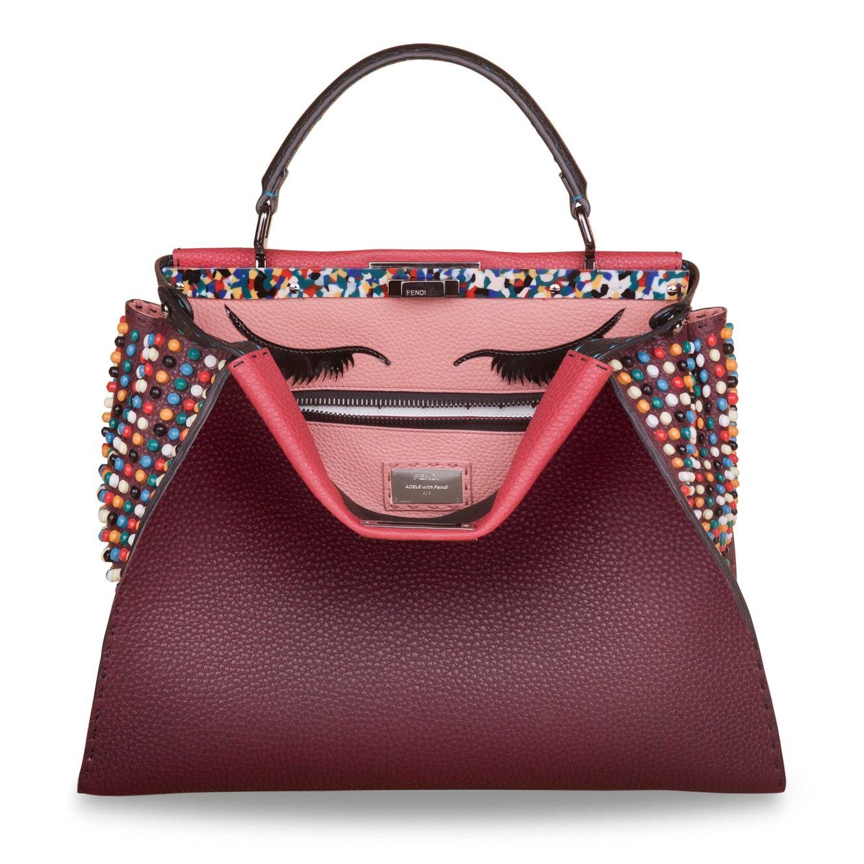 Las celebrities customizan el bolso #Peekaboo de #Fendi por una buena causa. #Adele