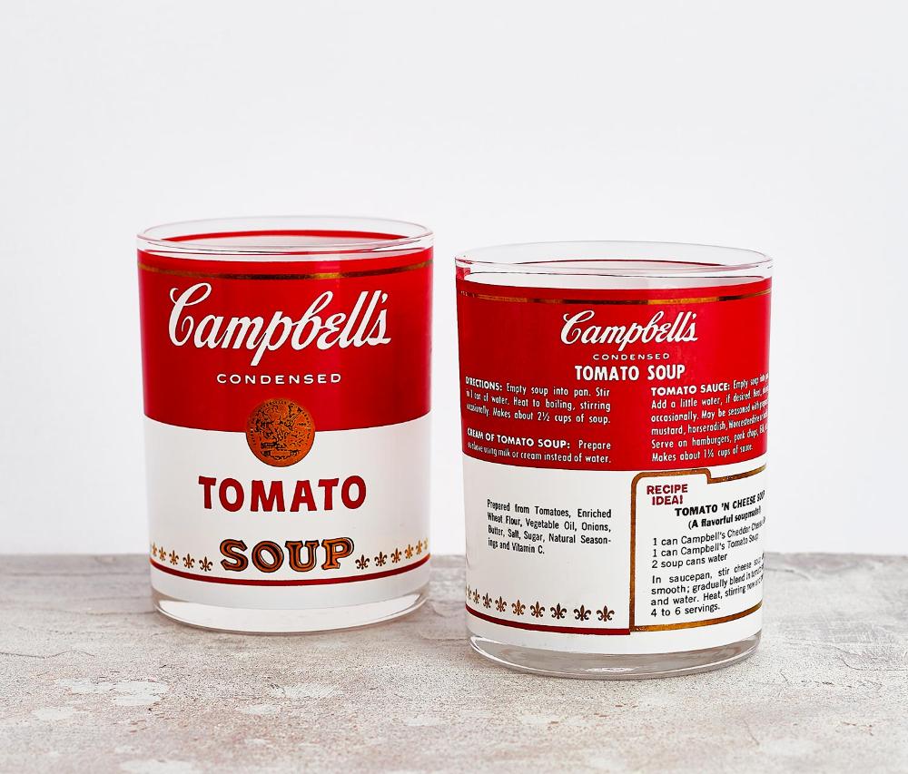 Campbell S Tomato Soup Tumblers Set Of 2 Tomato Soup Campbells Campbell Soup