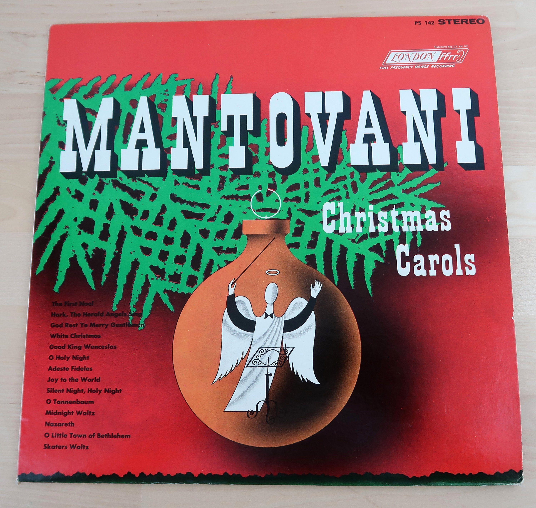 Silent Night Christmas Cards Awesome Mantovani Christmas Carols Vinyl Lp Record Album Ps 142 Christmas Card Template Christmas Cards Silent Night