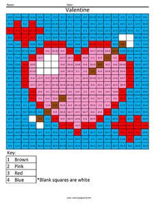 Valentine Heart- Holiday Division | Division | Math sheets, 5th ...