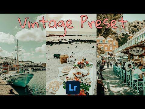Vintage Preset Lightroom Mobile Presets Free Dng Retro Vintage Preset Youtube In 2020 Lightroom Presets Free Lightroom Presets Lightroom