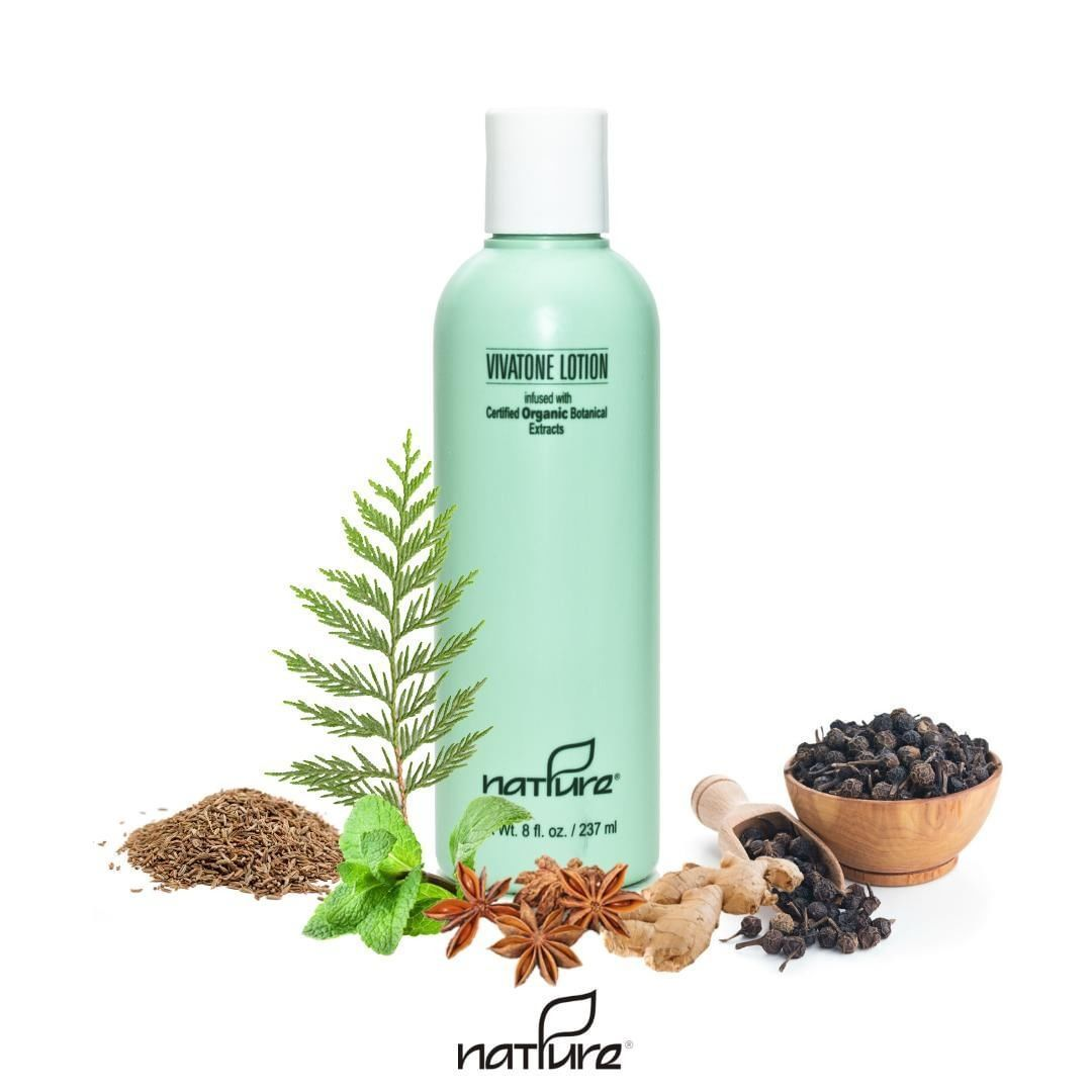 Infused with Certified Organic Botanical Extracts the Vivatone