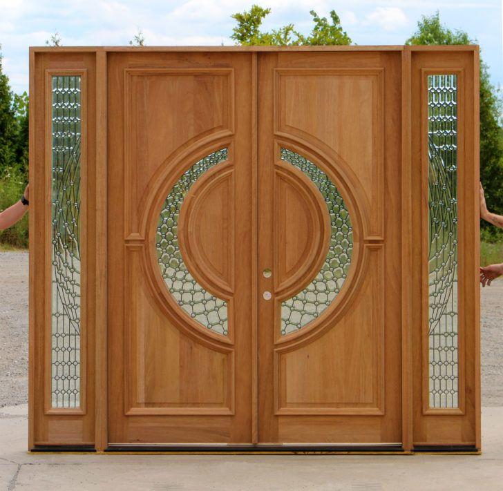 Eksterior Attractive Double Front Doors With Glass Design Ideas