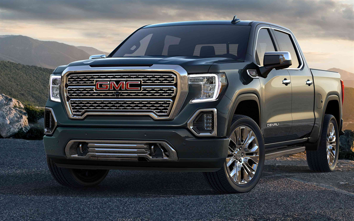 Wallpapers Gmc Sierra Denali 2019 4k New Suv Pickup Truck Gray American Cars