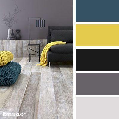 Teal, yellow, & shades of gray.