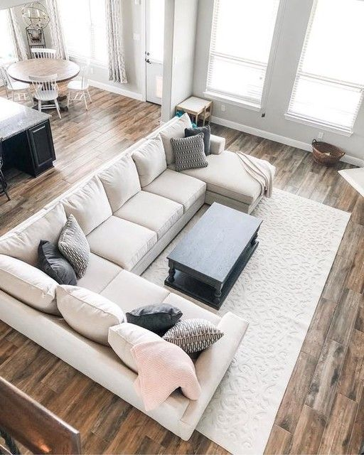 Delano Pearl 3 Piece Sectional With Right Arm Facing Chaise Sectional Living Room Layout Sectional Sofas Living Room Family Room Sectional