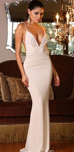 White maxi dress evening