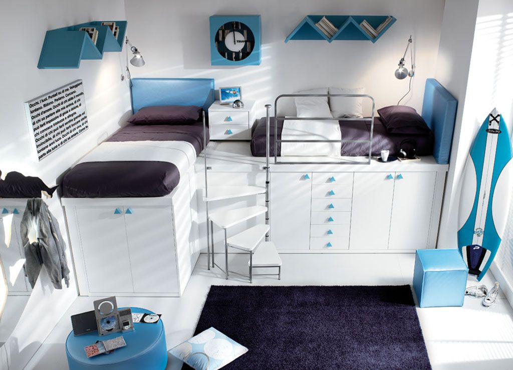 blue white black bedroom | blue white and black teen bedroom photo