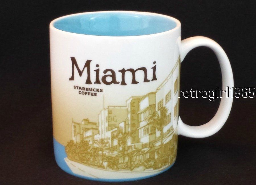 Collector City Global Icon Series Mug 2009 Retired Starbucks Miami 2IWE9YeDH