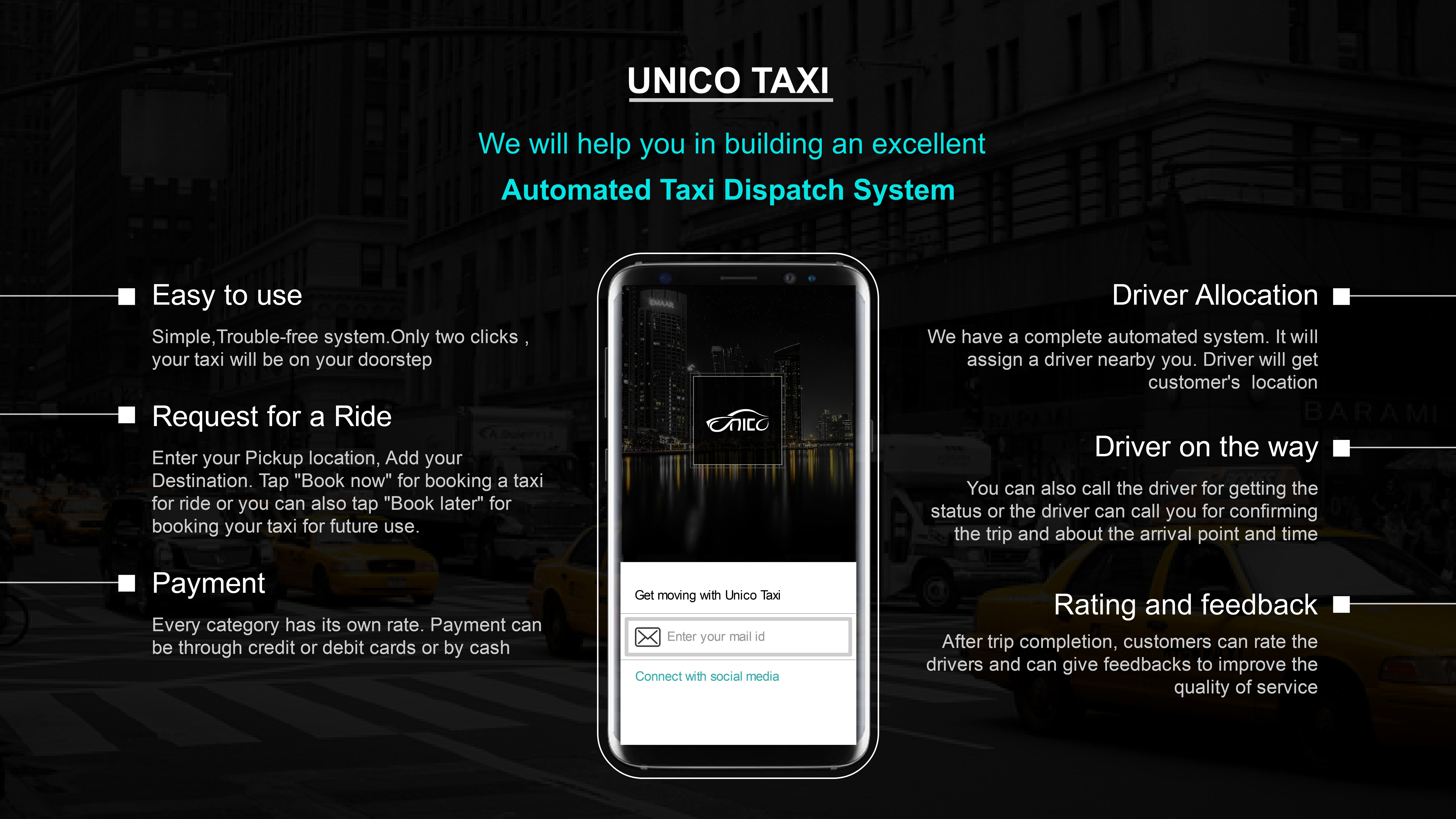 Unicotaxi provides a Scintillating Smart Dispatch Solution