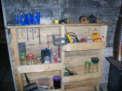 Hervorragend Functional Regal für Ihre Garage aus Paletten Dies ist ein sehr  QE82