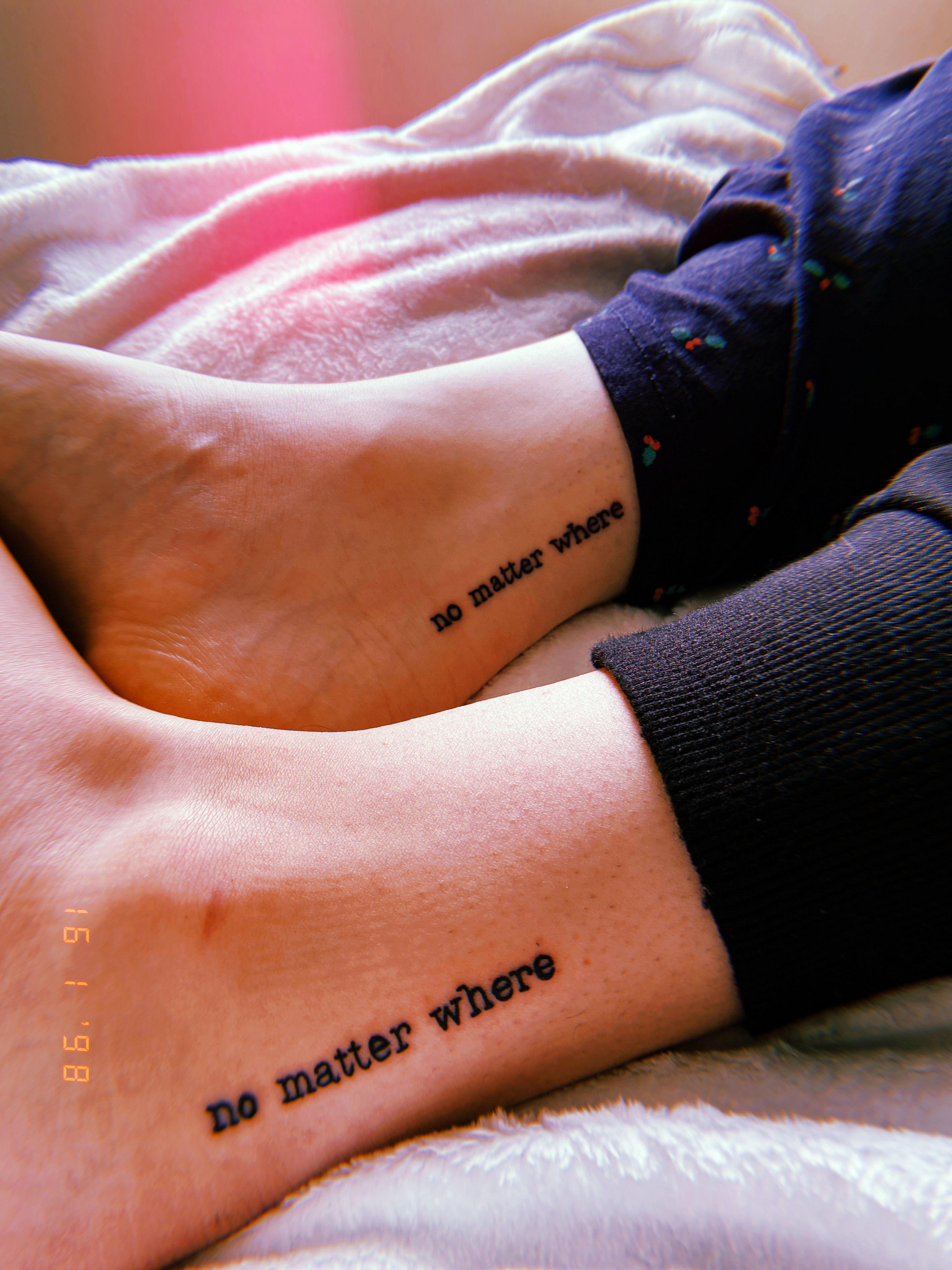 No Matter Where Tattoo : matter, where, tattoo, Matching, Friend, Tattoos, Tattoos,, Small