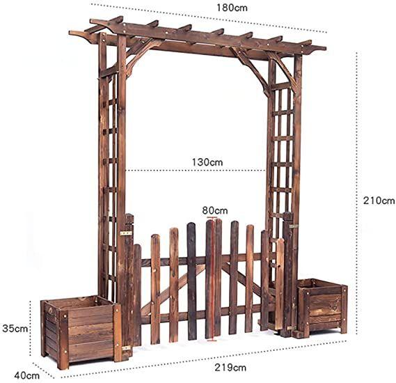 arche pour rosiers pergola en bois