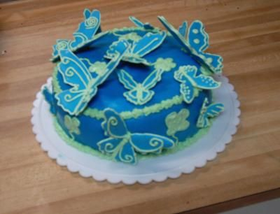 Blue Butterfly Cake Love The Color Now To Figure Out How To Do - Blue cake birthday