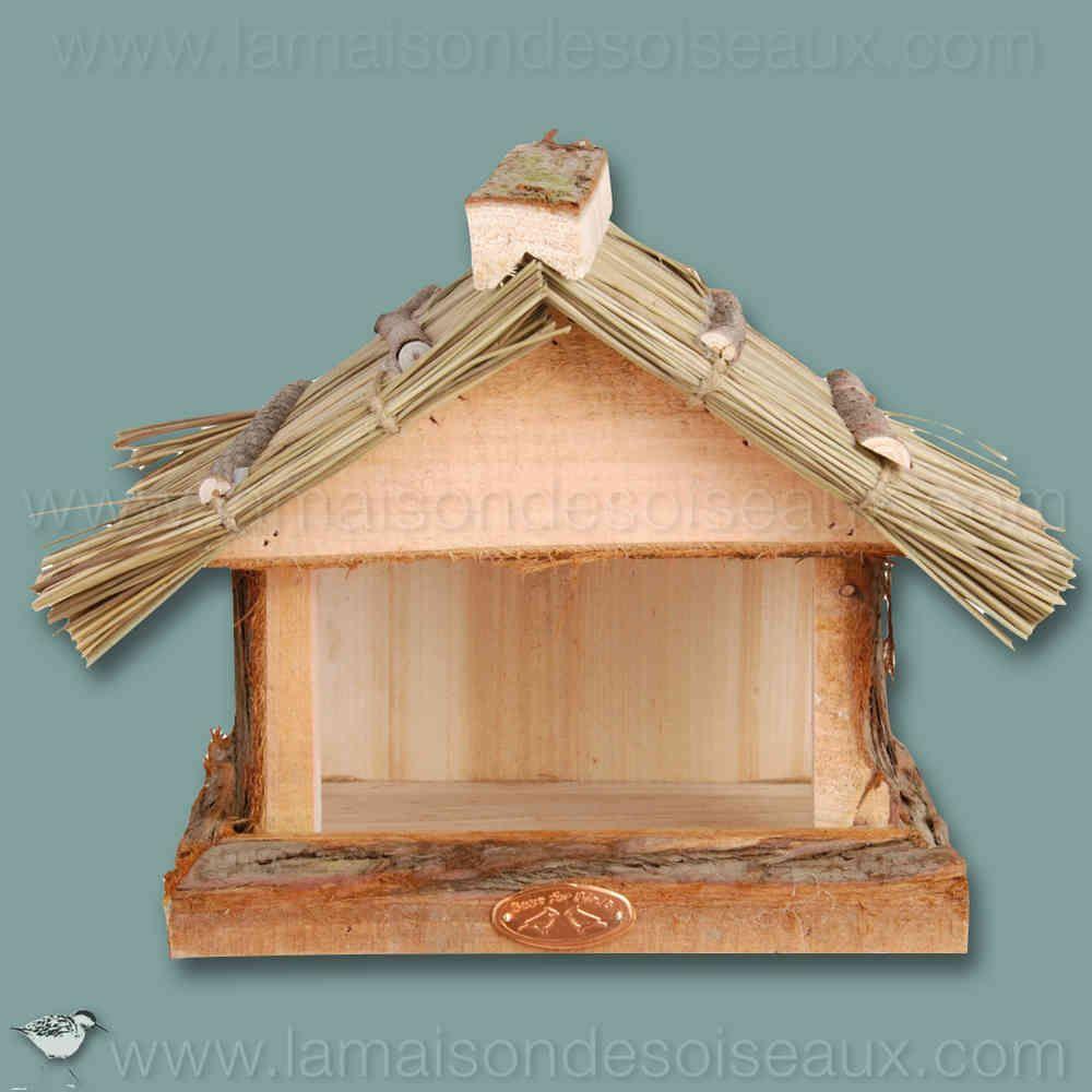 mangeoire abri pour oiseaux en bois et toit en paille pour les animaux pinterest mangeoire. Black Bedroom Furniture Sets. Home Design Ideas