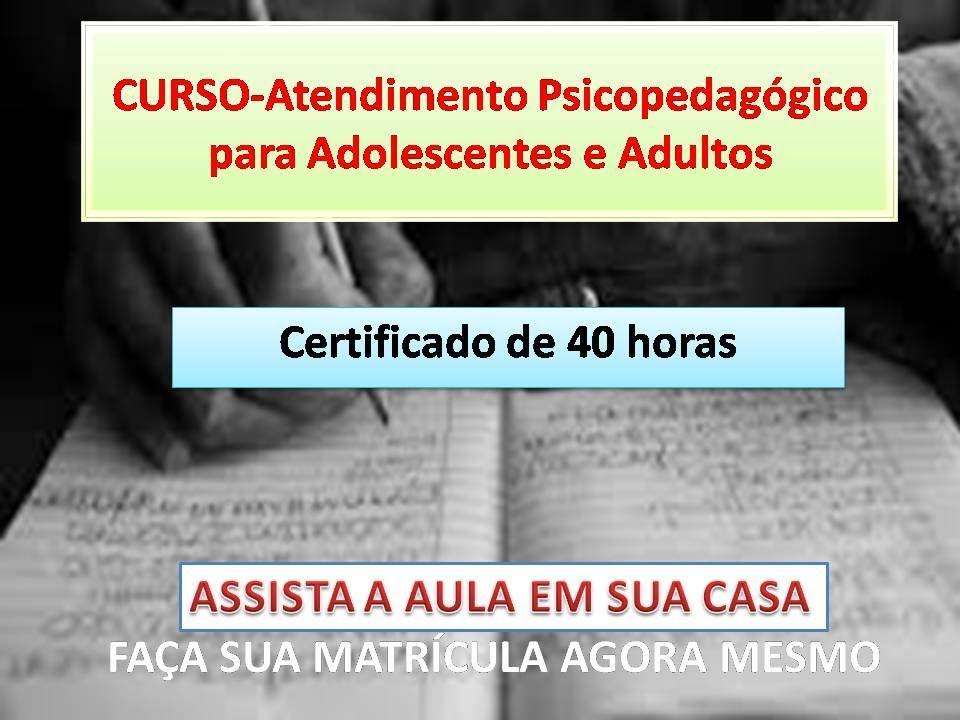 Aula 7 Avaliacao Psicopedagogica Para Adolescentes E Adultos