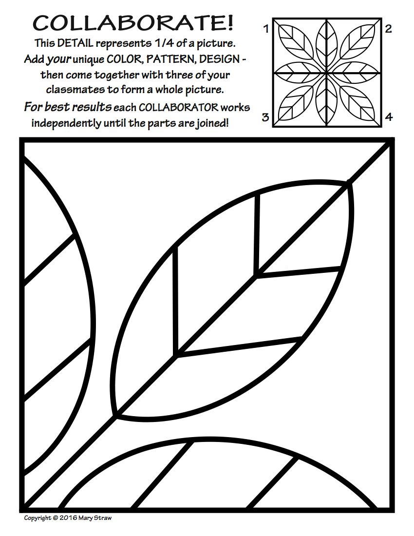 radial symmetry collaborative activity coloring pages symmetry