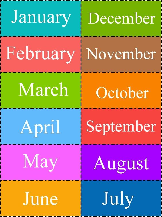 Aprendizaje Divertido: Los meses del año | Meses del año ...