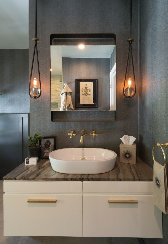 Elegant Quoizel Lighting In Bathroom Transitional With Bronze Fixtures Next To Powder Room Alongside Battery Operated Lamp Andcabin Jpg
