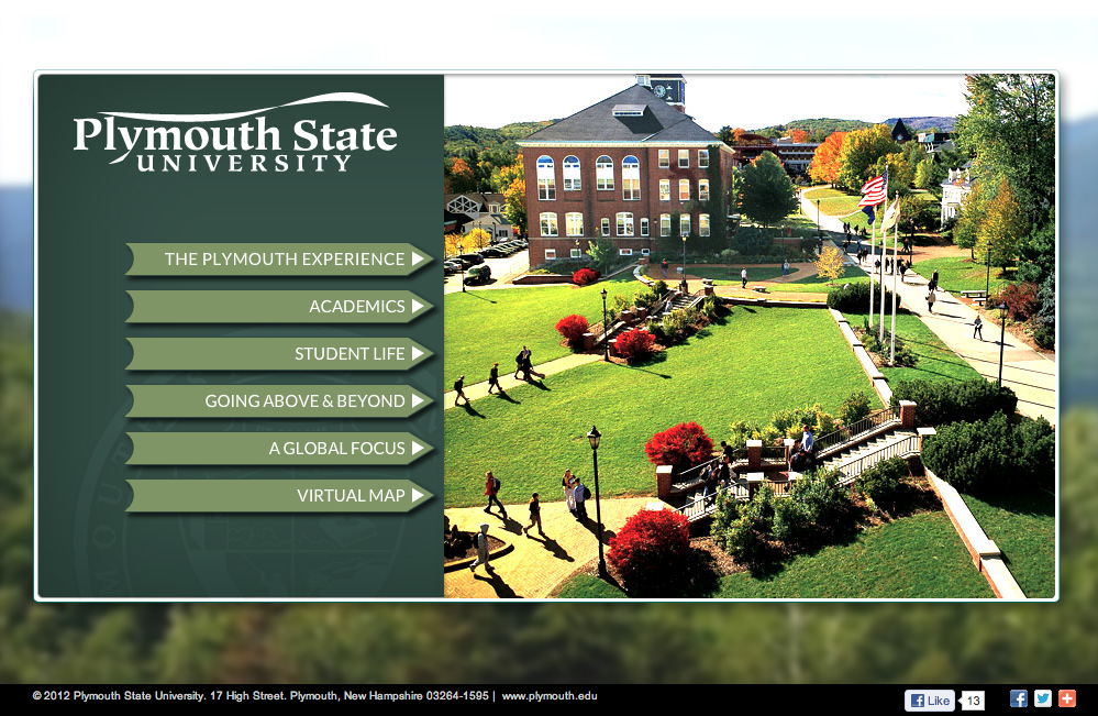 Virtual Campus Experience Plymouth State University Our