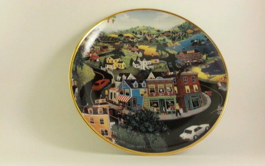 Franklin Mint Decorative Plate - Hometown U.S.A Bob Lobrippo Limited Edition in Collectibles Decorative Collectibles Decorative Collectible Brands | eBay & Franklin Mint Decorative Plate - Hometown U.S.A Bob Lobrippo Limited ...