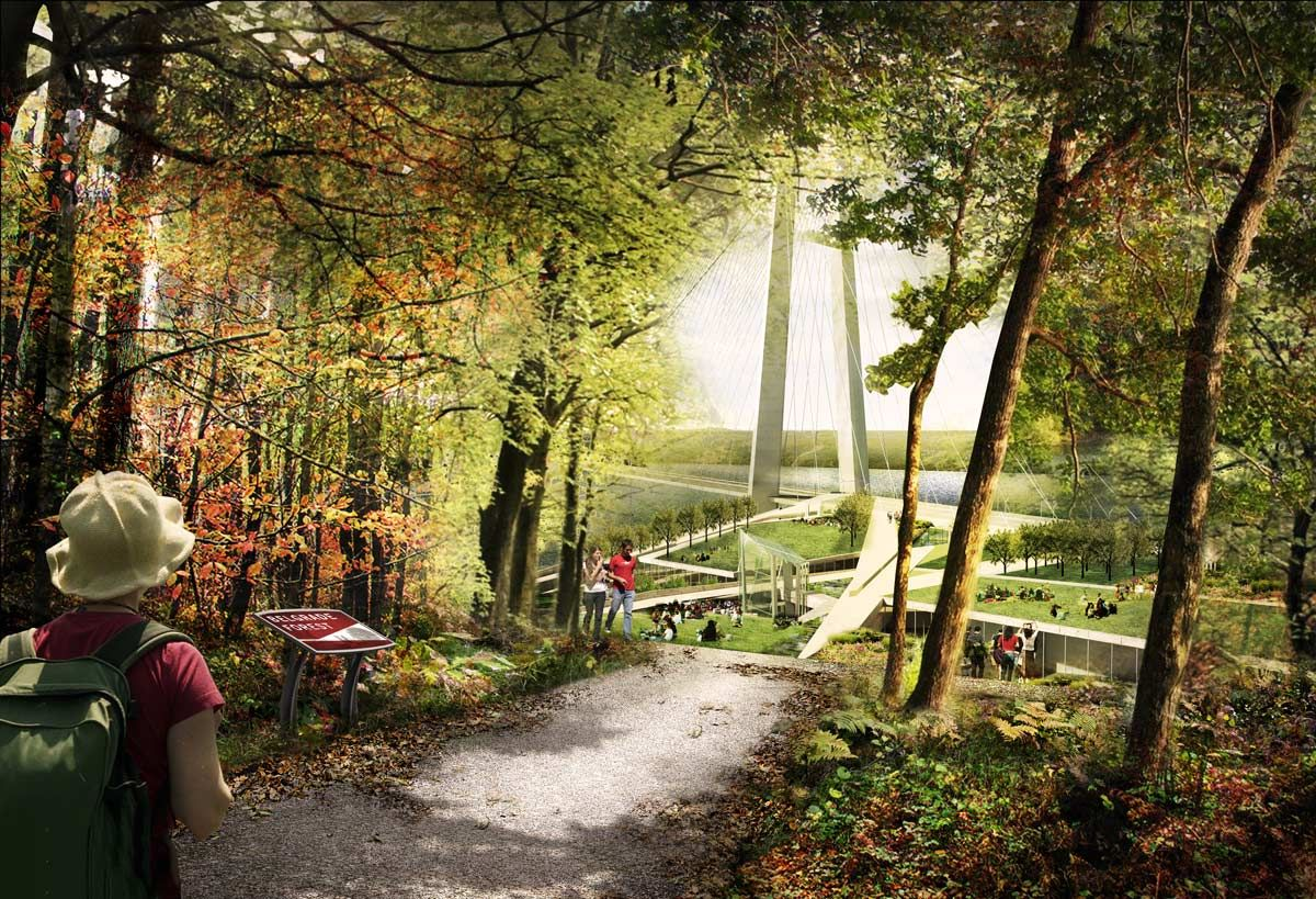 04 Forest Trail Emergence View Landscape Architecture Works Landezine Landscape Architecture Landscape Architecture Rendering