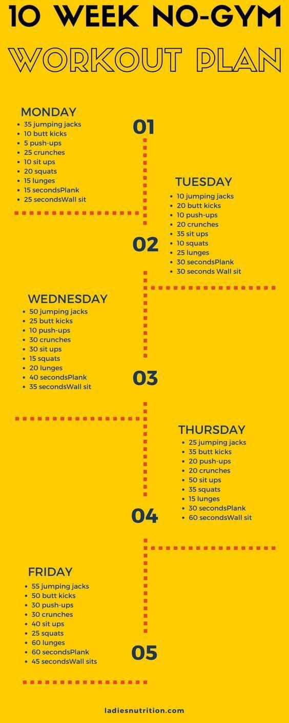 home workout diet plan