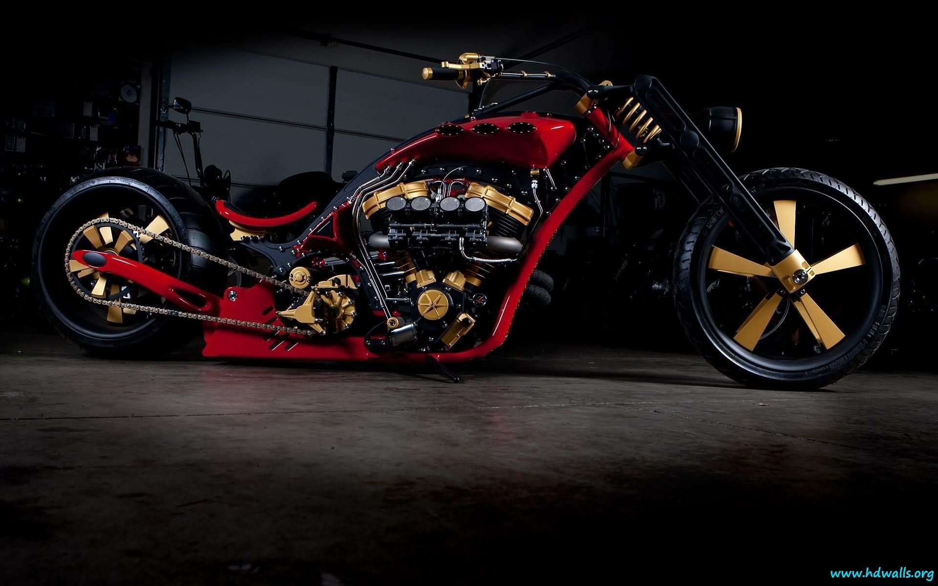 Unique Custom Motorcycle Chopper Motorcycle Wallpaper Harley