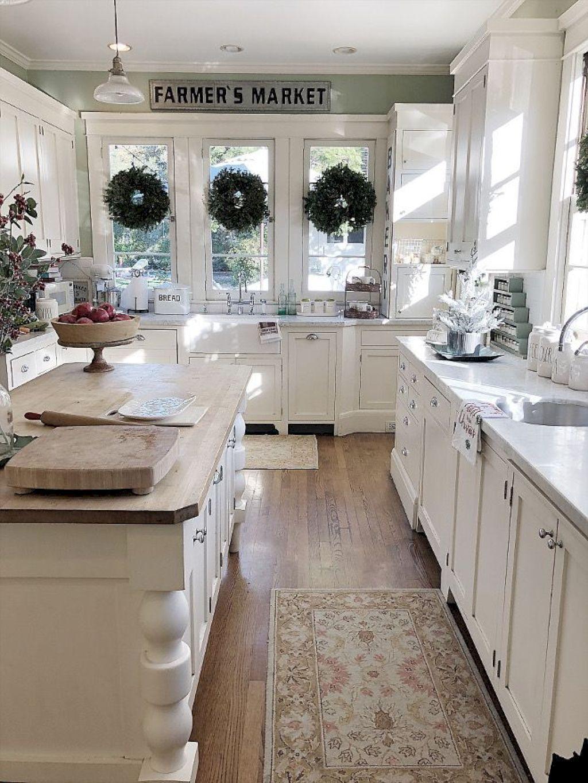 125 Modern Rustic Farmhouse Kitchen Cabinets Ideas White