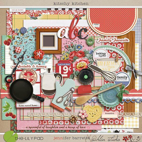 Free Digital Scrapbooking Kitschy Kitchen Sahlin Studio