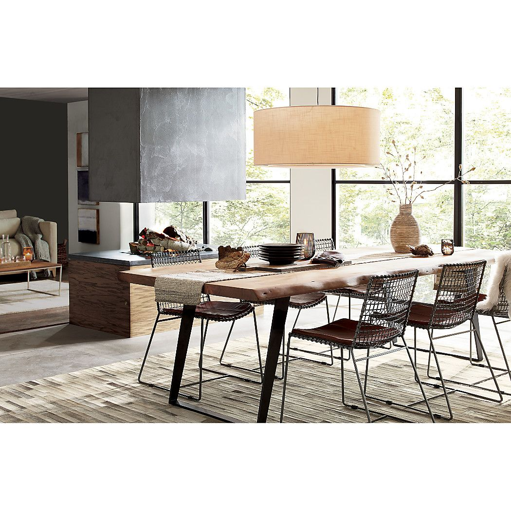Yukon Natural Dining Table Crate And Barrel Metal Dining Chairs Live Edge Dining Table Dining Table