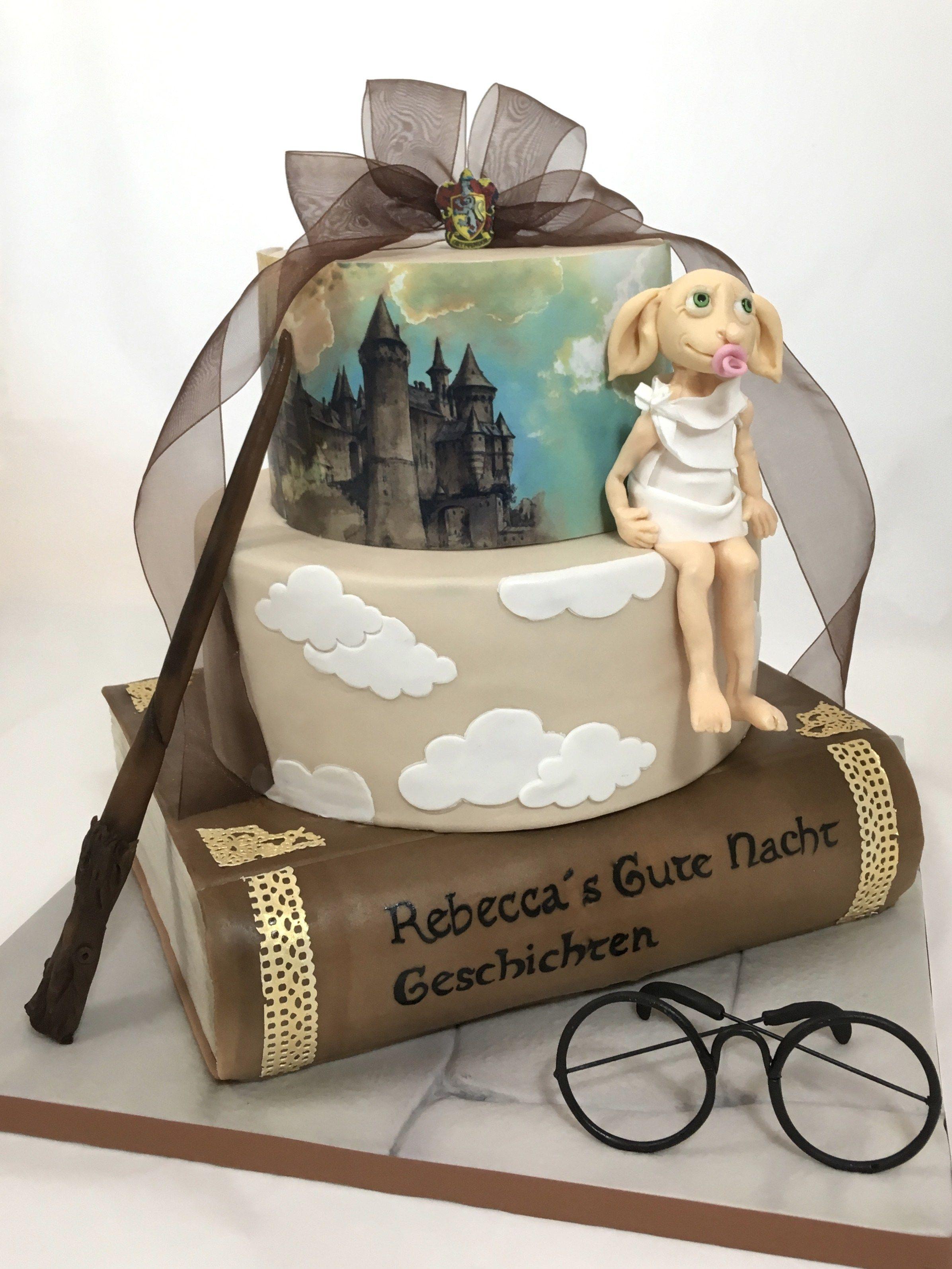 Harry Potter Babyparty Babyshower Cake Torte Book Rebecca