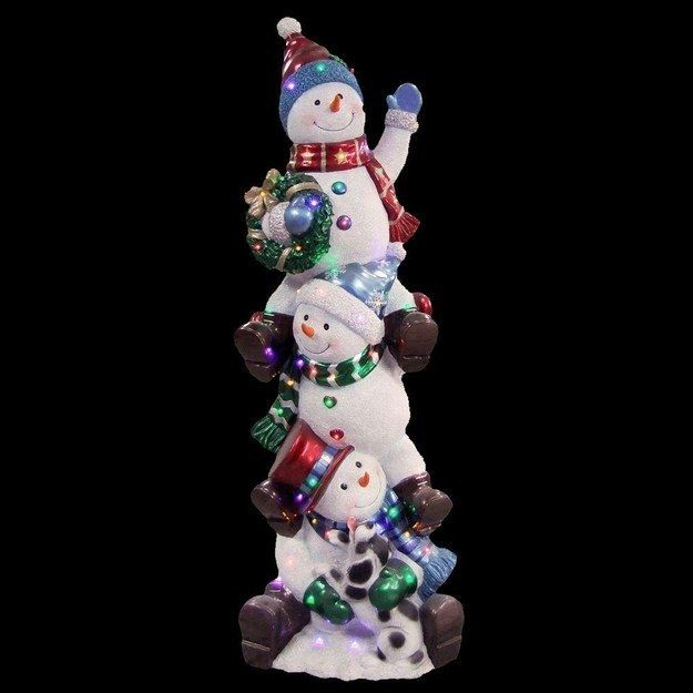 5 feet of LIT SNOWMEN. | 17 Insane Christmas Decorations You Won't Believe Actually Exist
