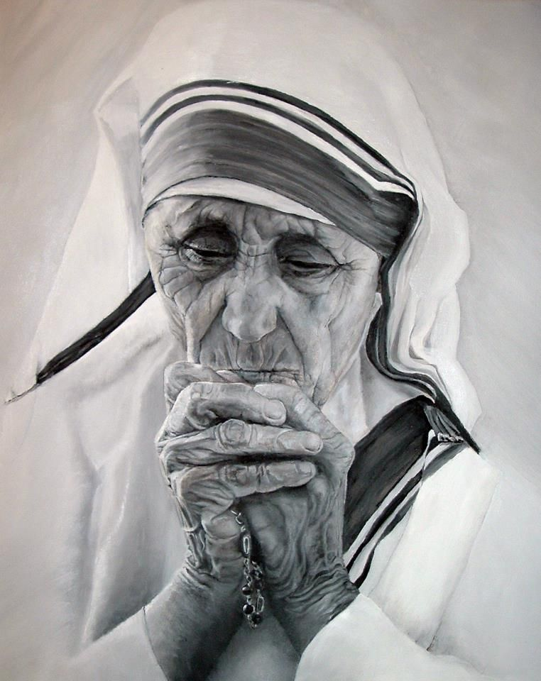 <3 Mother Teresa <3      Pencil drawn by Jeanne McCormick